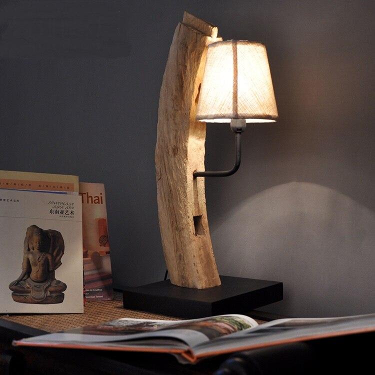 Юго-Восточной Азии стиль ручной работы твердой древесины творческий спальня прикроватный настольная лампа Отель Inn номер настольная лампа ...