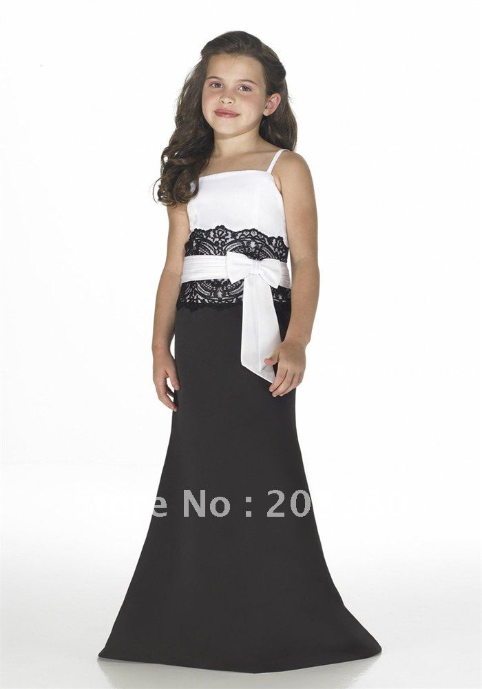 Popular Long Black Junior Bridesmaid Dress-Buy Cheap Long Black ...