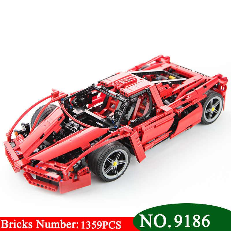 9186 RACER Seri Super Mobil 1:10 Model Bangunan Blok Set Kompatibel 8653 Klasik Technic Mobil-Gaya Mainan untuk anak-anak