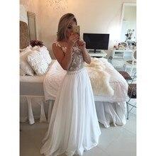 Weiß Elegante 2015 Abendkleid Mit Delicate Appliques Friesen Schärpe Lange Chiffon Abendkleider O-ansatz Sheer Zurück Bodenlangen