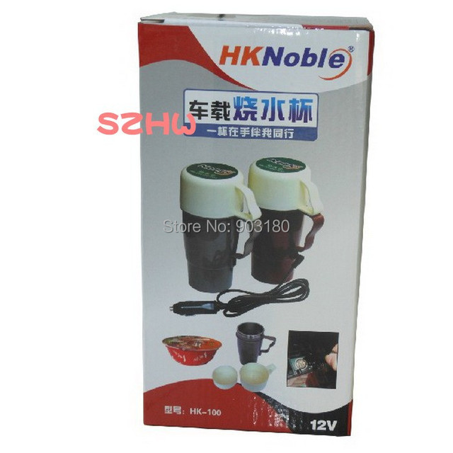HKnoble Car DC 12V 7.4A 450ML Stainless Steel Kettle, Boil Cup Warm Cup of Hot Water 100 Degrees HK-100 Car Pot / Water Heater