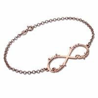 Customized Name bracelet Infinity Symbol for Love Bracelets Personalized letter Bangles jewelry Rose Gold bransoletka bileklik