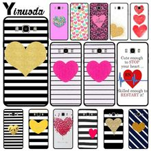 Yinuoda Housing Red hearts Stripe Black Soft Phone Case For Samsung Galaxy j7 prime j8 j2 j4plus j6plus 2018 Mobile Cover