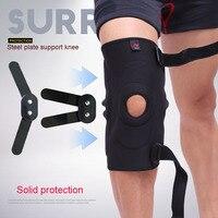 AOLIKES 1PCS Adjustable Hinged Knee Brace Patella Compression Knee SupportsKnee Pads Hole Sports Kneepad Safety Guard