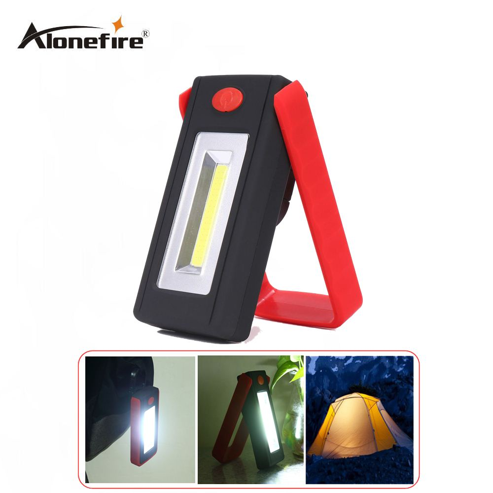 AloneFire C019 COB LED Magnetic Work Stand Hanging Hook Light Flashlight Outdoors Bright Hand Torch Recharge AAA battery body friendly magnetic recharge muted