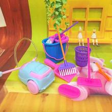 Doll Broom Kids Pretend-Play-Toy Playset Home-Cleaning-Tools Mini Mop Simulation Dust-Collector