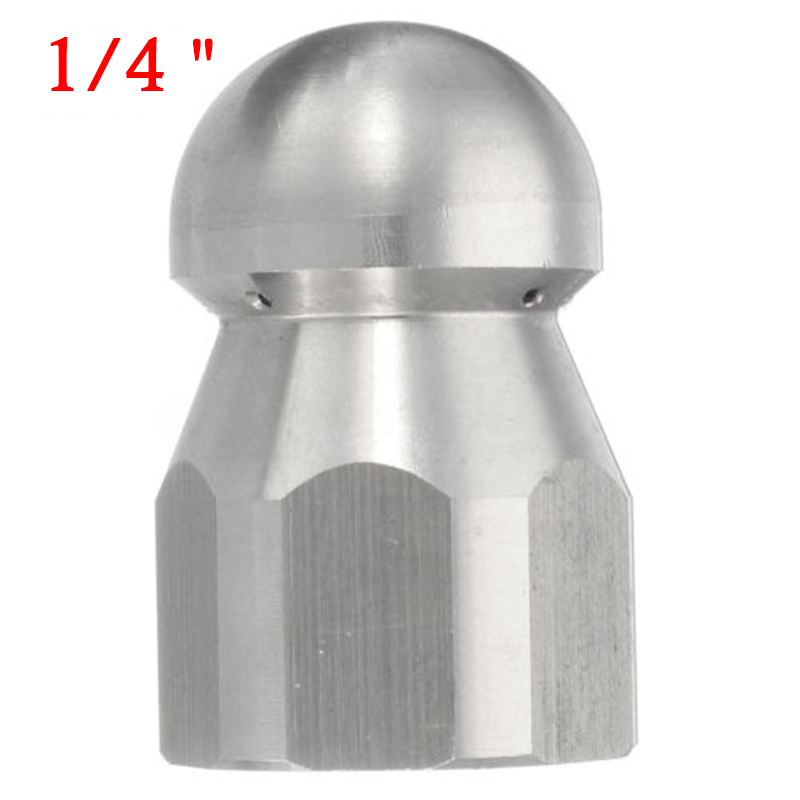 1//4 inch Pressure Washer Drain Sewer Cleaning Female Nozzle Jet 1 Forward 3 Rear