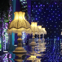 Düğün resepsiyon masa dekorasyon düğün yol kurşun dantel lamba/düğün centerpiece olay parti dekorasyon