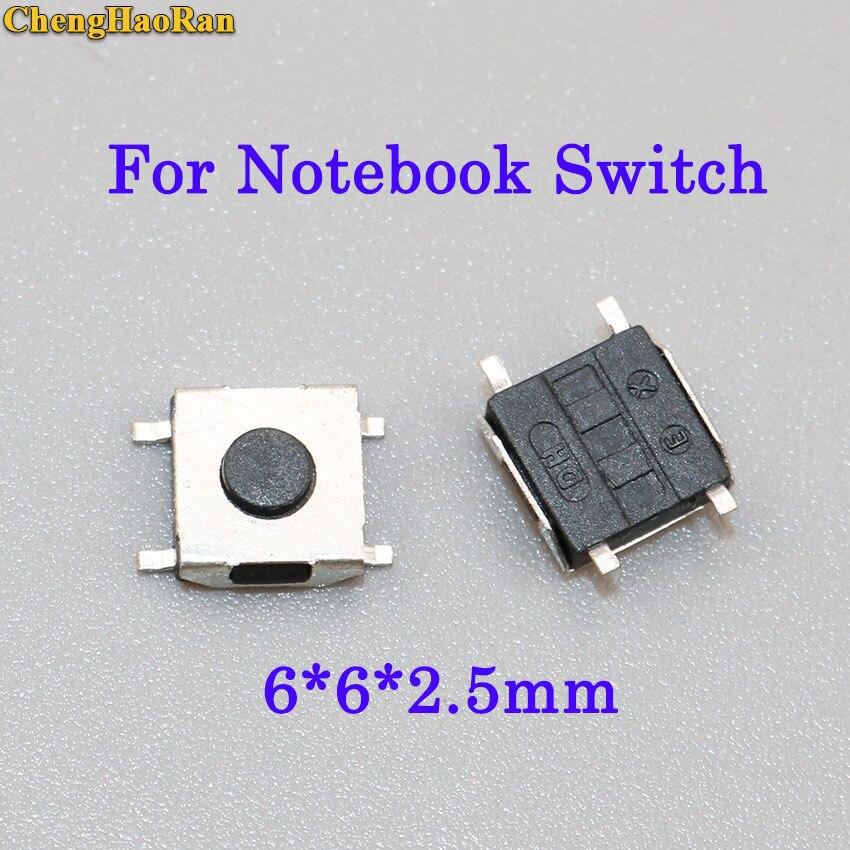 Chenghaoran 10 Stücke 6*6*2,5mm Push-schalter Taste 4 Smd Laptop Touch-taste Schalter Für Asus Lenovo Notebook