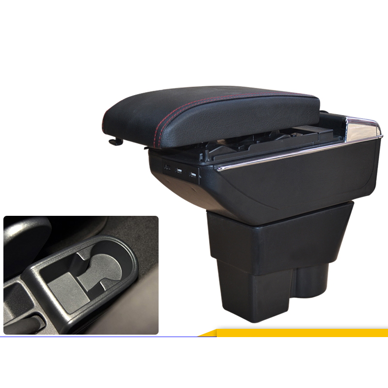Car armrest box central Store box with USB for skoda rapid rapid spaceback 2012 2013 2014 2015 2016 2017 2018 free shipping car armrest central store content storage box with usb for honda fit 2002 2010 2016 2017 2015 2014 2013 2012 2011