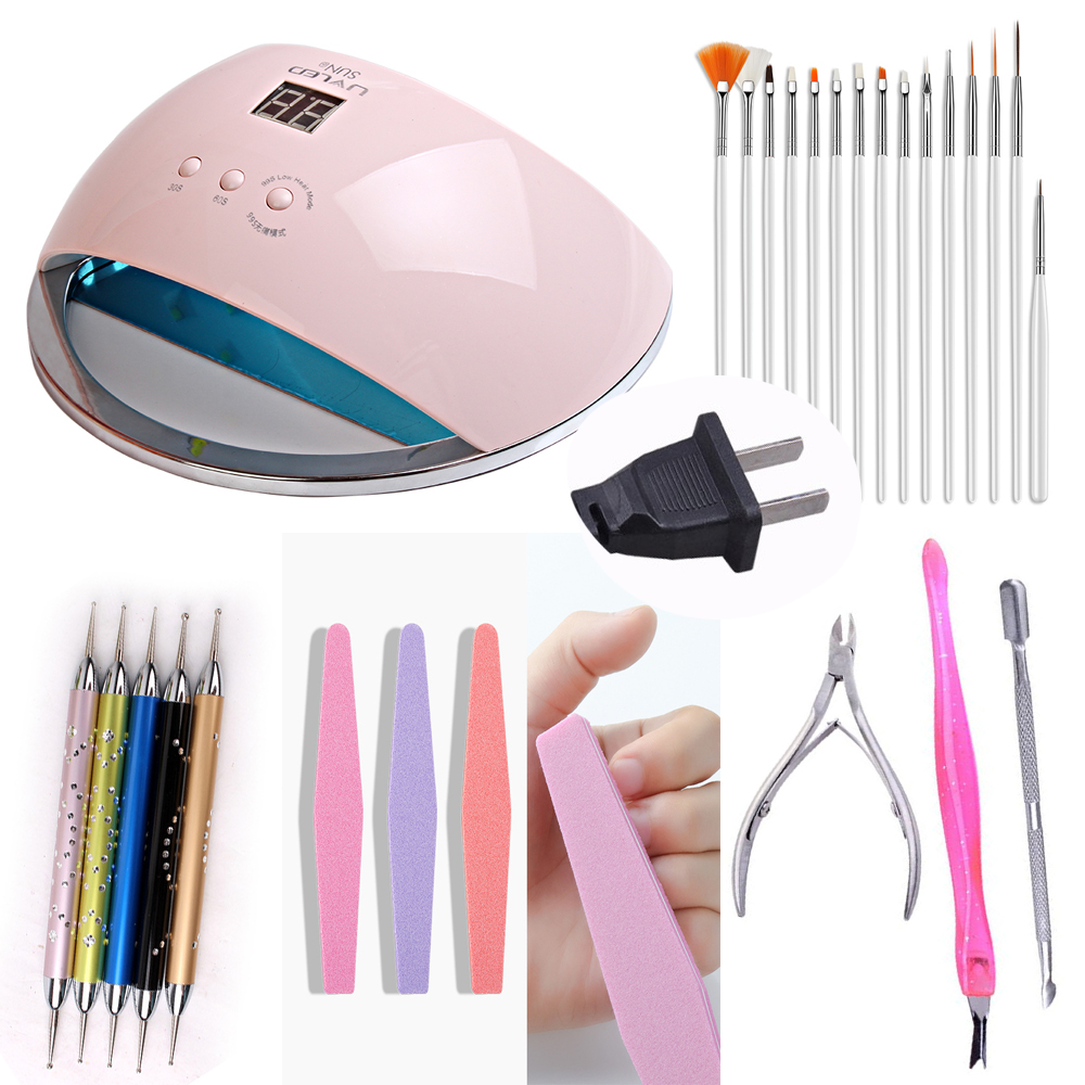 Image 3 - Suit 48w SUN 6  Nail Dryer LCD Display 21pcs LED Dryer Nail Lamp UV LED Lamp for Curing Gel Polish Auto Sensing Lamp For Nails-in Nail Dryers from Beauty & Health