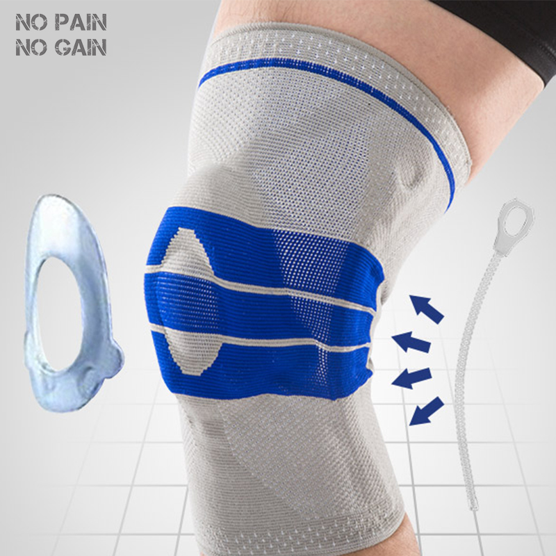 NO PAIN NO GAIN <font><b>Knee</b></font> Pads Sports Support Silicon Padded <font><b>Knee</b></font> Pads Support Brace Protector 1 PC Safety Protection Kneepad GJHX