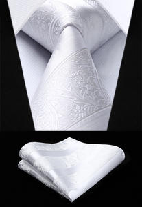 Pocket Square Tie Handkerchief-Set Necktie Paisley Wedding Woven Classic Fashion Men