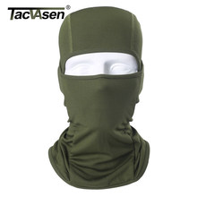 TACVASEN Tactical Hood Headwear Balaclavas Full Face Mask Lightweight Quick Drying Camouflage Combat Neck Gaiter Sun Protection(China)