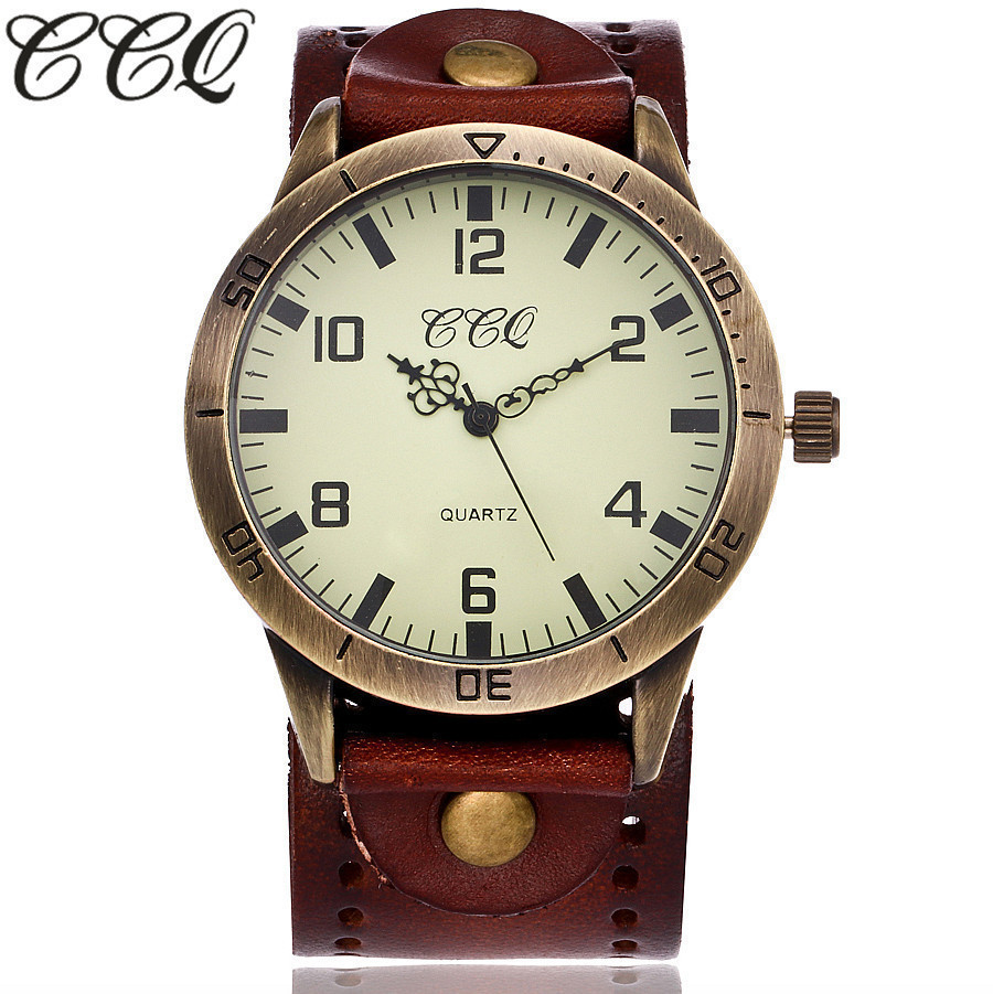 2017 CCQ Brand Male Watches Vintage Luxury Military Sport Quartz Watch Casual Men Leather Strap Wristwatches Relogio Masculino xinge top brand luxury leather strap military watches male sport clock business 2017 quartz men fashion wrist watches xg1080