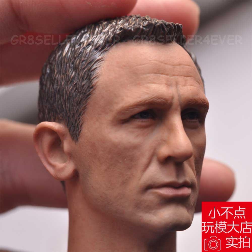 08f2e990a8 custom 1 6 scale Daniel Craig Head Sculpt as James bond 007 For 12