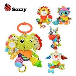 Sozzy Marca 2018 Venda Quente Brinquedos de Pelúcia Animal Brinquedos Crianças Brinquedos E Bonecas Do Bebê Com Mordedor Juguetes Bebe Brinquedos Como presente de Aniversário presente