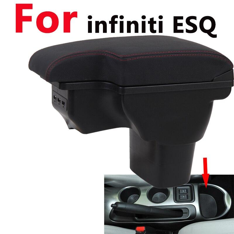 Para Infiniti ESQ caja de reposacabezas NISSAN juke universal car center console caja de modificación accesorios doble elevado con USB