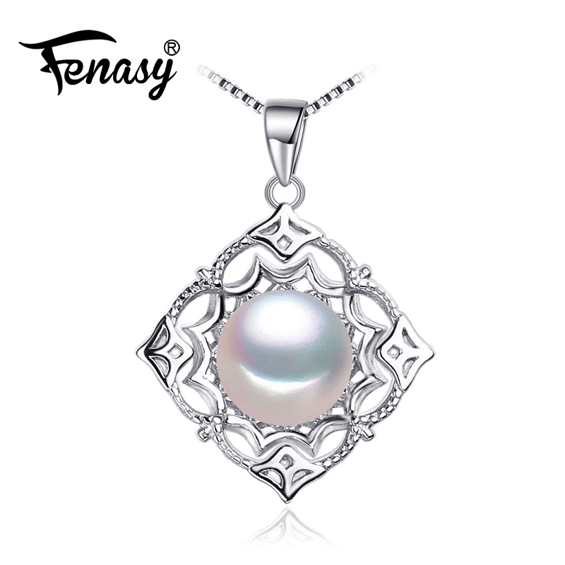 FENASY natural Pearl Jewelry necklaces & pendants special carved shape Jewelry female 925 sterling silver necklace for womenFENASY natural Pearl Jewelry necklaces & pendants special carved shape Jewelry female 925 sterling silver necklace for women