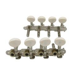 Neue Maschinen Tuner Pegs Tuning Schlüssel mit Weiß Perle Knöpfe 4L + 4R für Mandoline