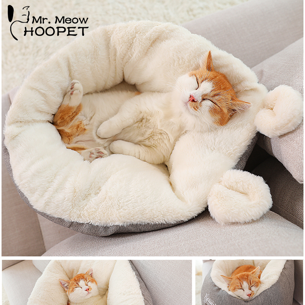 Hoopet Cat Warm Basket Bed Cat House Kennel for Dog Puppy Home Sleeping Kennel Teddy Comfortable House Hoopet Cat Warm Basket Bed Cat House Kennel for Dog Puppy Home Sleeping Kennel Teddy Comfortable House