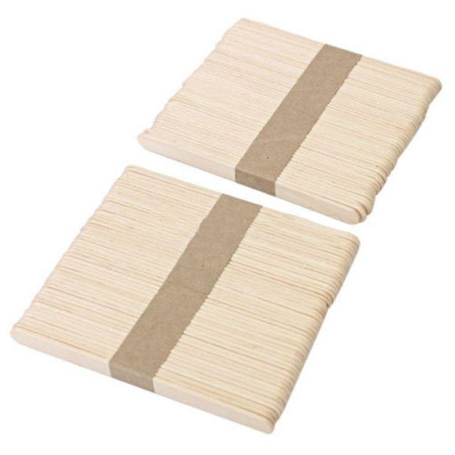 Shellhard 100x Jednorazowe Woskowanie Drewniane Szpatułki Ciała Usuwanie Włosów Stick Szpatułki