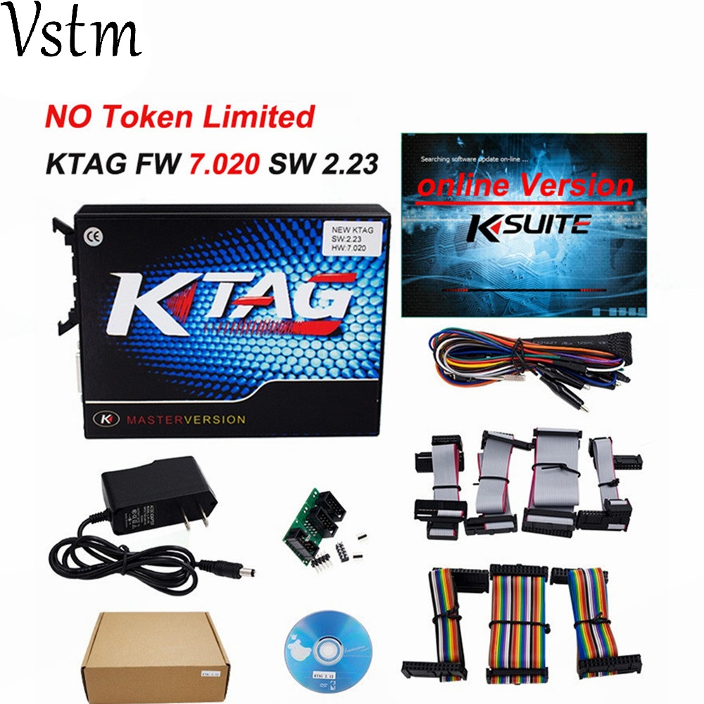 KESS EU Online Version Red V5.017 SW V2.23 No Token Limit Kess V2 5.017 HW OBD2 Manager Tuning Kit Best Car Truck ECU Programmer new version v2 13 ktag k tag firmware v6 070 ecu programming tool with unlimited token scanner for car diagnosis