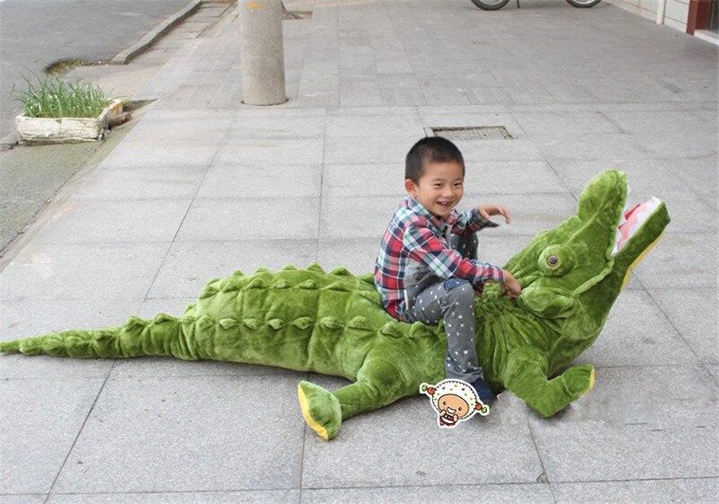 """Fancytrader 87 ''/220 см Джамбо Аллигатор Мягкая Плюшевая с наполнителем огромное животное из эмульсионного плюша Кукла"""" крокодил """"Подушка"""