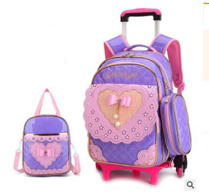 Ziranyu Kids School Rolling Backpacks School Bag Wheels For Girls