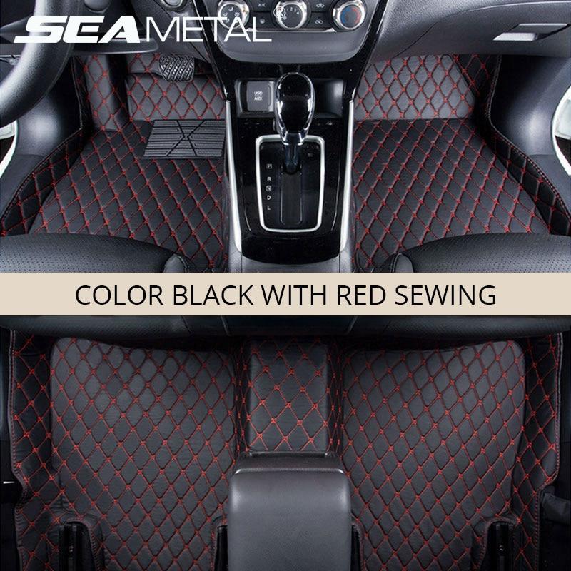 LHD Car Floor Mats For Hyundai Kona Kauai Encino 2018 2017 Custom Car Rug Carpet Auto Interior Foot Mat Pad Accessories Styling
