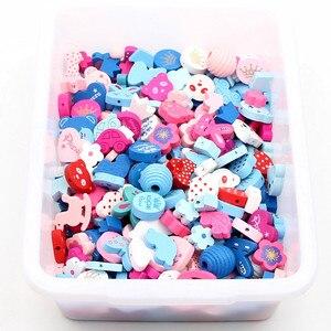 50pcs Wooden Beads Multicolor