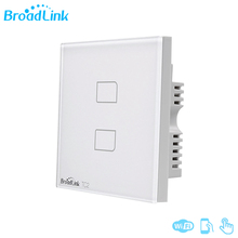 Broadlink TC2 2Gang UK Normal Contact Panel 433MHZ Distant Management Gentle Wall Swap Work With RM Professional For Sensible House System