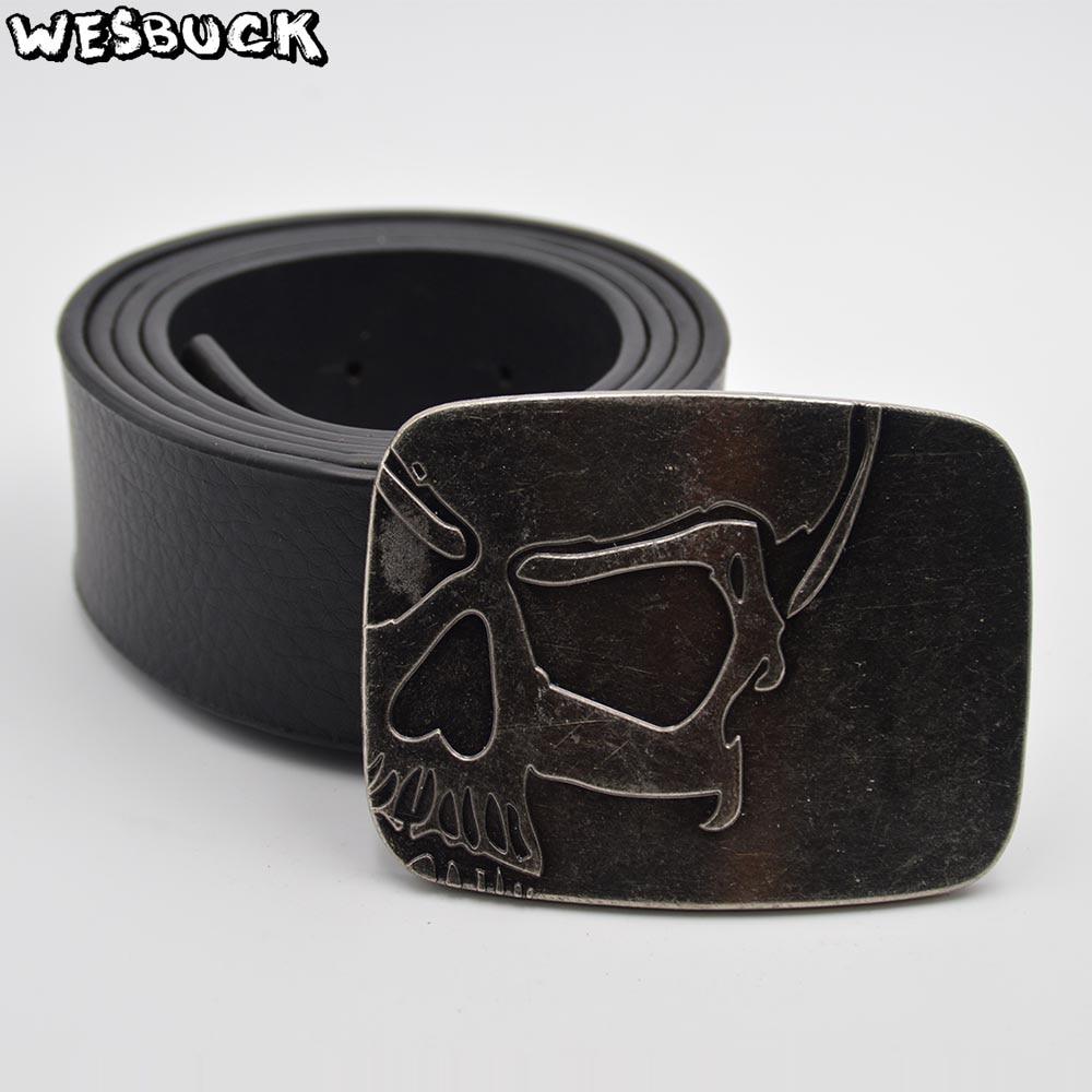 5 PCS MOQ WesBuck Brand Skull Big Metal Cowboy Cowgirl Belt Buckles