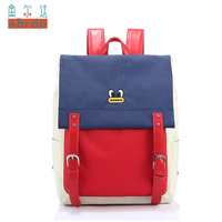 AORDA Women Casual Oxford Backpack Panelled Colors Waterproof Backpack Teenagers Girls School Laptop Bags Mochila Feminina