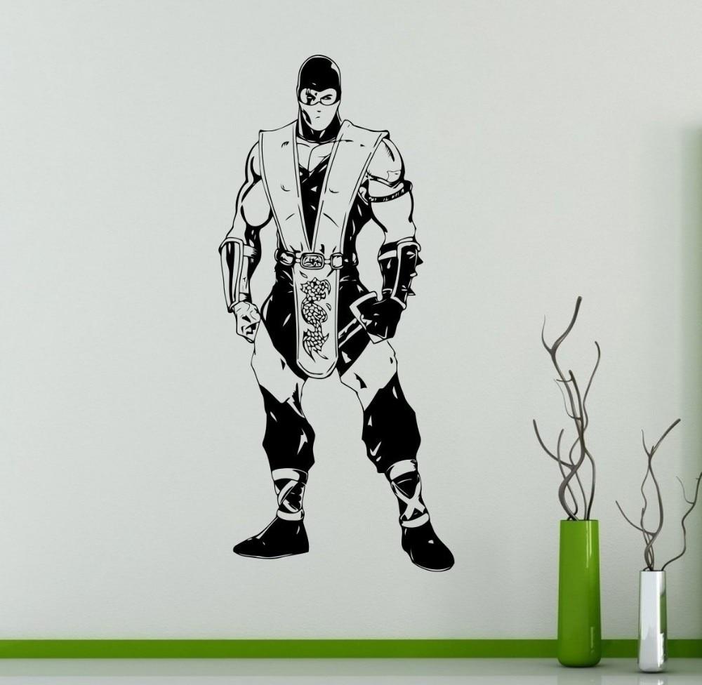 Aparador Antiguo Pintado ~ Jogos de luta Mortal Kombat Decalque Da Parede do Projeto Da Arte Removível Vinil Removível u00c0