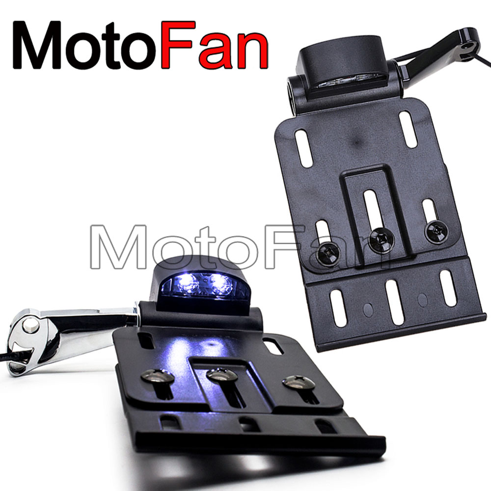 Motorcycle Side Mount License Number Plate Frame Relocation Holder For Harley Sportster Iron Low Nightster Roadster XL 883 1200 цена