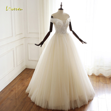 Loverxu Vestido De Noiva Wedding Dress 2019 Short Sleeve