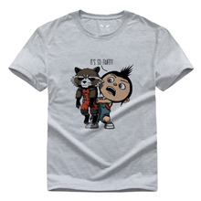 Guardians of the Galaxy T Shirt Short Sleeve Teenages Top Tees Shirt American Movie Summer O
