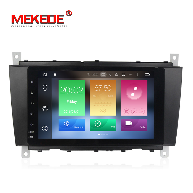 8''HD 1024x600 Android 8.0 Car Audio radio for Benz W209 W219 A-Class A160 C-Class CLK24 C180 C200 CLK200 W203 with GPS bt ipod