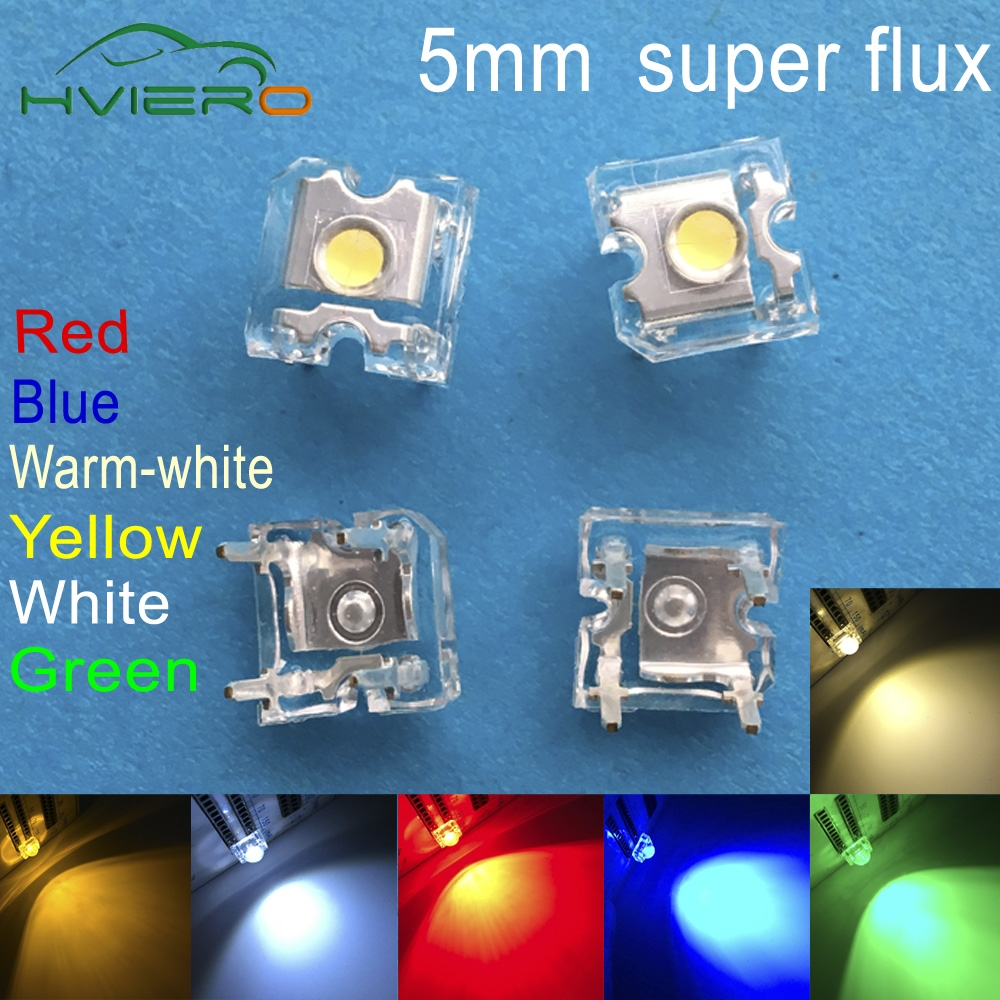 41mm Red Auto Interior Dome 12v Light Bulb Bulbs Lamp W 6 X 5mm Super - 500pcs led 5mm white red green blue yellow warm white dome super flux water clear