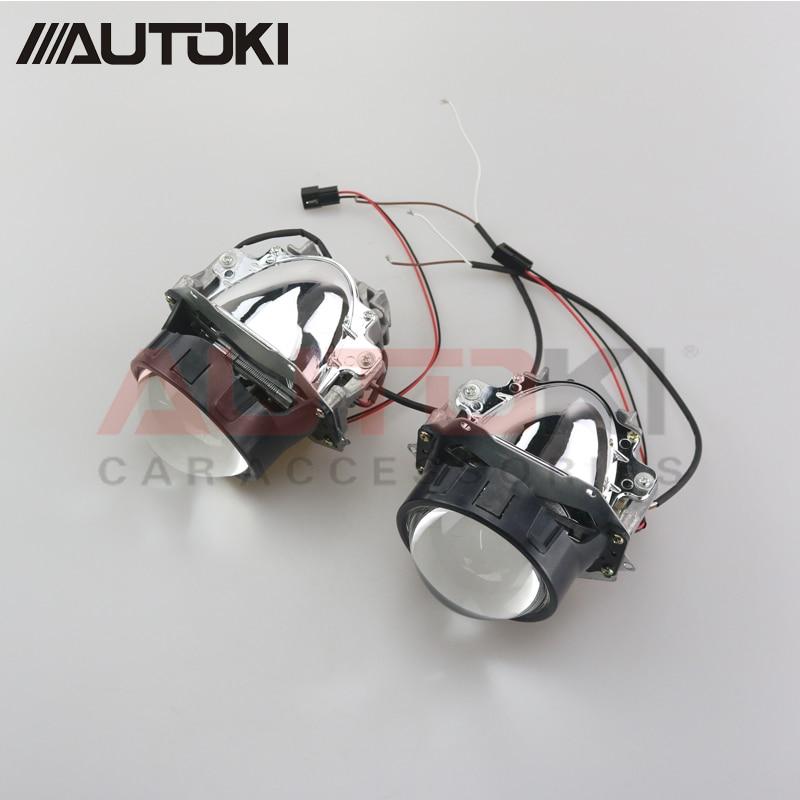 Autoki Car Styling Universal Bi LED Projecteur Phares Lentille Avec puce 3.0 pouce Faisceau Haut et Bas Auto Projecteur Lumière rénovation