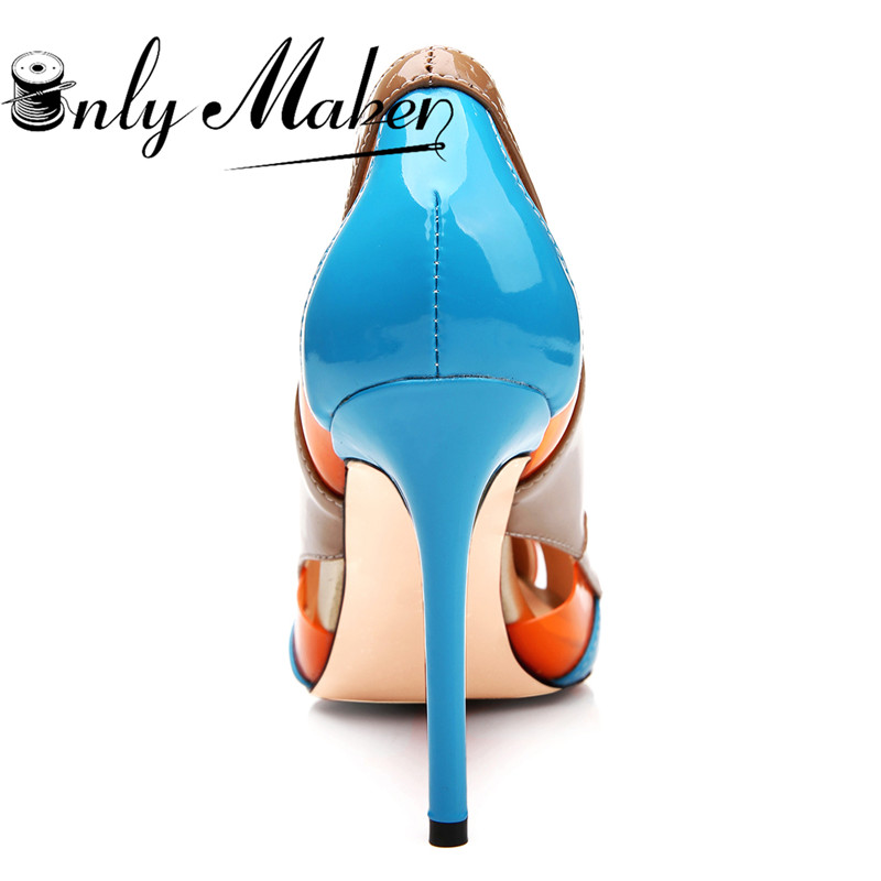 d1a82be1ca1a onlymaker 2018 Multicolor Women s slip on Pointed toe High Heels Pump Shoes  Ladies Wedding Party Shoes Stilettos Heels Spike S-in Women s Pumps from  Shoes ...
