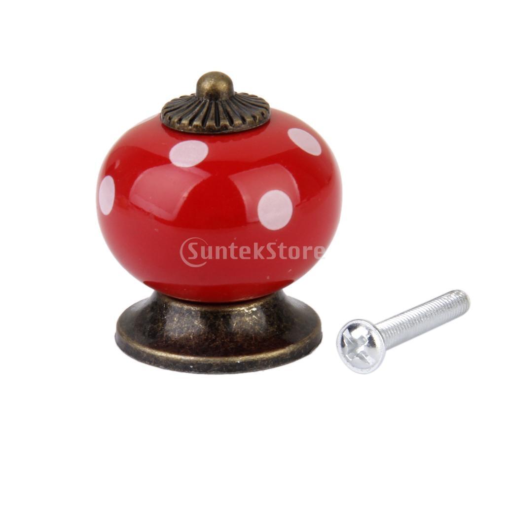 Online kopen wholesale rode keramische deurknoppen uit china rode ...
