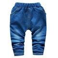 2016 Otoño nueva manera de la alta calidad del algodón de los niños pantalones vaqueros 2-5 años los niños pantalones para niños pantalones