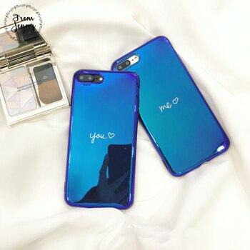 Từ Jenny Vài Trường Hợp Điện Thoại Cho iPhone6 6 s 7 8 Cộng Với 8 cộng với X 4.7 inch 5.5 + Mềm TPU Cover Quay Lại Tình Yêu trái tim Bạn và Tôi In Trường Hợp