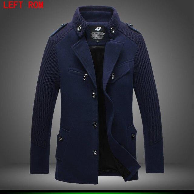 Зимняя куртка Для мужчин утолщение Шерстяное пальто Slim Fit Куртки модная верхняя одежда; теплый человек повседневная куртка пальто бушлат плюс Размеры 4xl