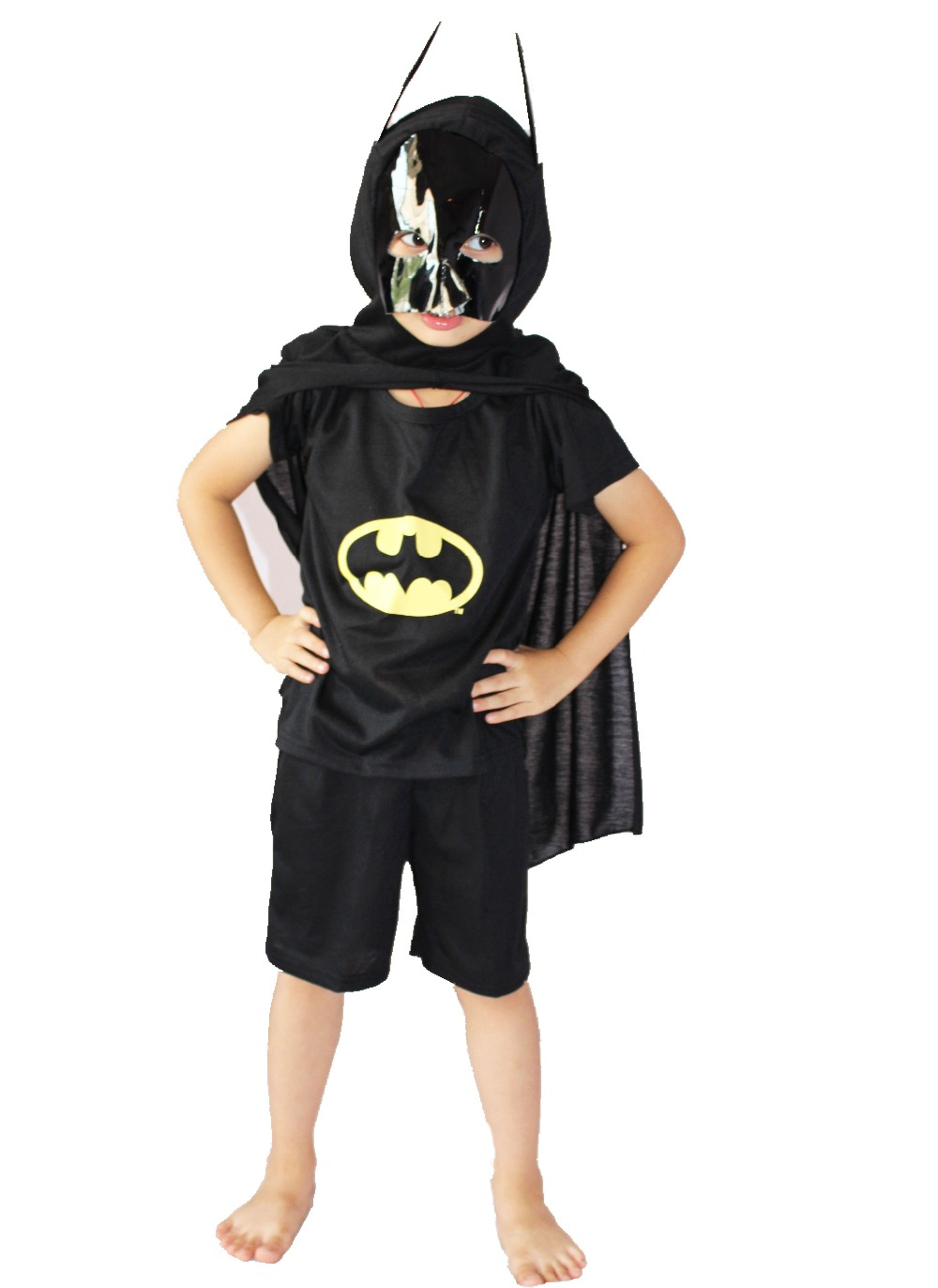 3 - 8 years modal short sleeve three-piece bo's batman model clothing leisure wear,kid Cosplay Role-playing,GHOST