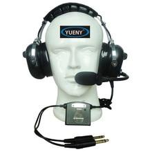 سماعات الرأس النشطة الملغي للضوضاء ANR سماعات الطيران التجريبية عزل الضوضاء سماعة الطيران Yueny AH 2080