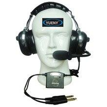 Auriculares con cancelación activa de ruido ANR, auriculares aviadores con aislamiento de ruido para avión Yueny AH 2080