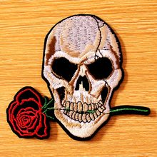 DIY Iron On Patches On Clothes Embroidery Skull Patch For Clothes Embroidered Patches For Clothing Punk Biker Patch Badge Stripe hot sale mixed 14pcs full set for bandidos mc embroidered patch iron on jacket leather vest rider punk full back size patch g046